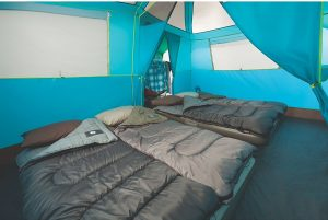 Coleman Tenaya Lake Lighted Fast Pitch 8-Person Tent Inside