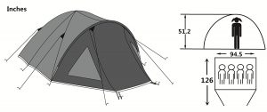 SEMOO Double Layer Tent Size Review