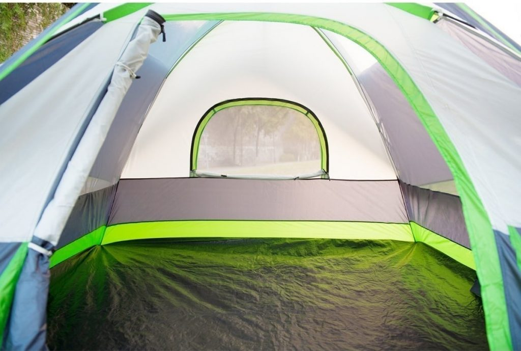 SEMOO Water Resistant 4 Person Camping Tent Interior